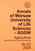 Annals of Warsaw University of Life Sciences - SGGW. Agriculture No 52