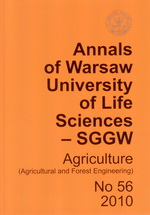 Annals of Warsaw University of Life Sciences - SGGW. Agriculture No 56