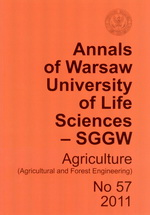 Annals of Warsaw University of Life Sciences - SGGW. Agriculture No 57