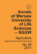 Annals of Warsaw University of Life Sciences - SGGW. Agriculture No 58