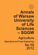 Annals of Warsaw University of Life Sciences - SGGW. Agriculture No 59