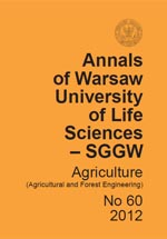Annals of Warsaw University of Life Sciences - SGGW. Agriculture No 60