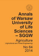 Annals of Warsaw University of Life Sciences - SGGW. Agriculture No 64
