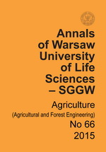 Annals of Warsaw University of Life Sciences - SGGW. Agriculture No 66