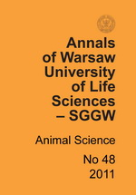 Annals of Warsaw University of Life Sciences - SGGW. Animal Science No 48