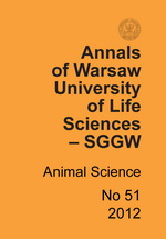 Annals of Warsaw University of Life Sciences - SGGW. Animal Science No 51