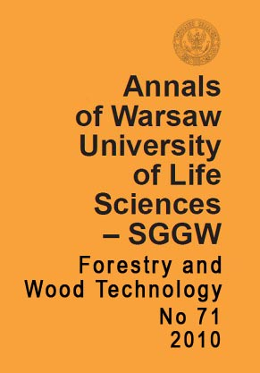 Annals of Warsaw University of Life Sciences – SGGW. Forestry and Wood Technology No 71