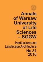 Annals of Warsaw Agricultural University Horticulture and Landscape Architecture No 31