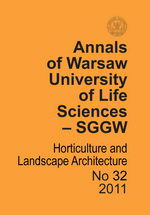 Annals of Warsaw Agricultural University Horticulture and Landscape Architecture No 32