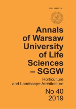 Annals of Warsaw Agricultural University Horticulture and Landscape Architecture No 40