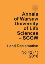 Annals of Warsaw University of Life Sciences - SGGW. Land Reclamation 42(1)