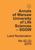 Annals of Warsaw University of Life Sciences - SGGW. Land Reclamation 42(2)