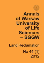 Annals of Warsaw University of Life Sciences - SGGW. Land Reclamation 44(1)