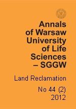 Annals of Warsaw University of Life Sciences - SGGW. Land Reclamation 44(2)